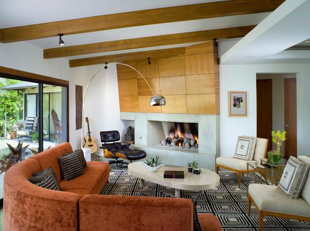 Zen Villa midcentury-living-room