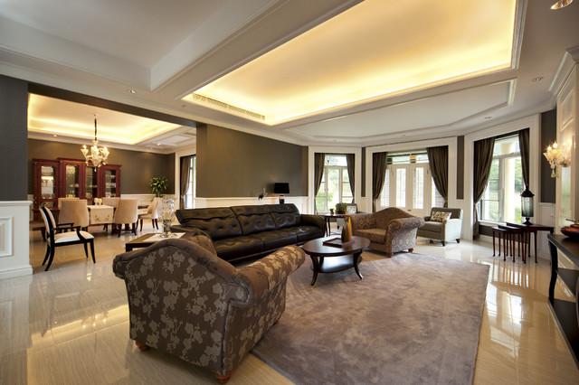 Zhong Shan Jing Yi Shan Zhaung (China) contemporary-living-room