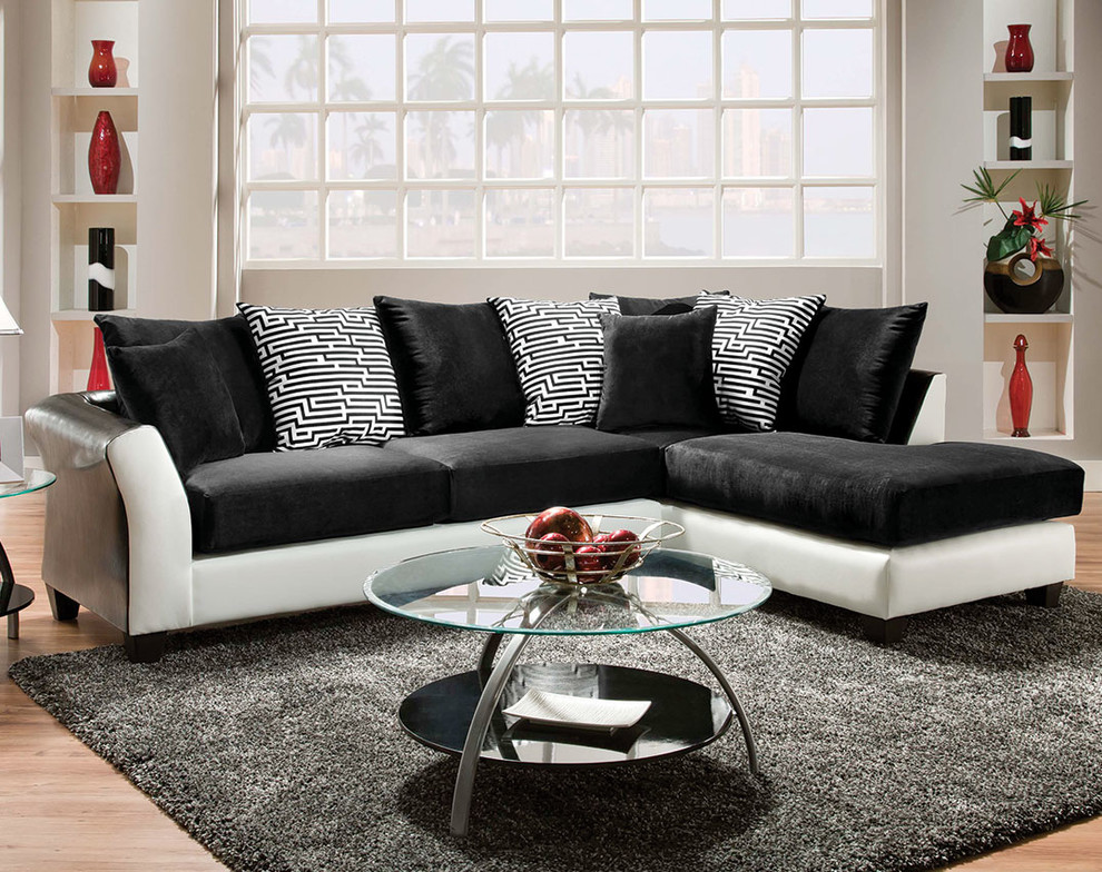 Zigzag Two Piece Sectional Sofa