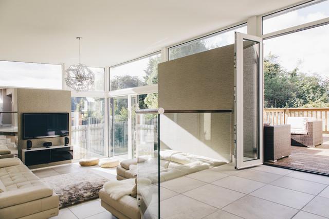 Zinc Clad Extension contemporary-family-room