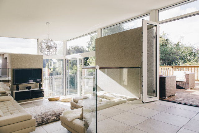 Zinc Clad Extension Contemporary Living Room Other By Paul
