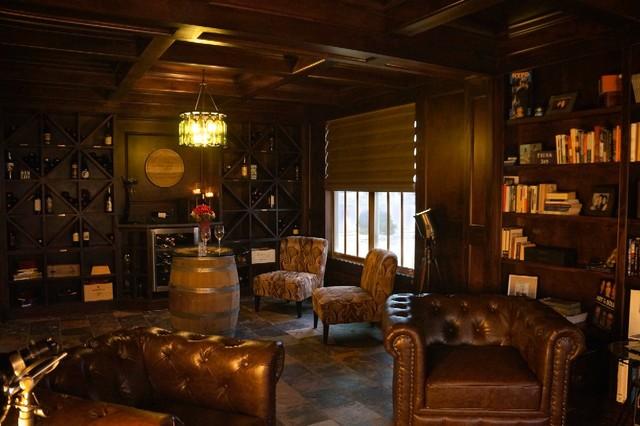 Cigar Lounge Design ZT Wine Amp Cigar Lounge Transitional Living