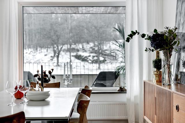 Skandinavisk inredning av en matplats