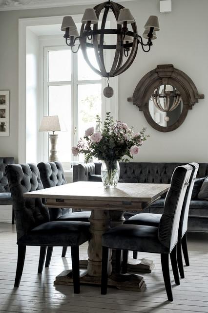 餐厅-灰色-餐桌装修效果图