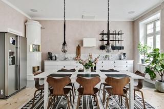 Foton och inspiration för matplatser, med rosa väggar