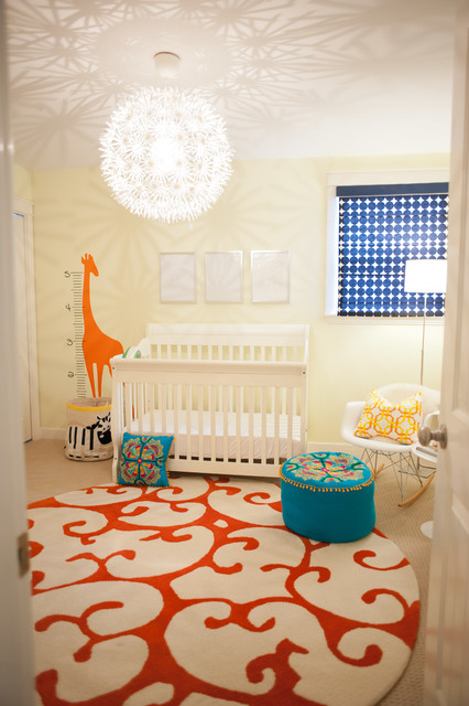 A Contemporary Family Home transitional-nursery