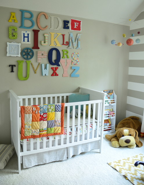 Alphabet Wall Art eclectic-nursery