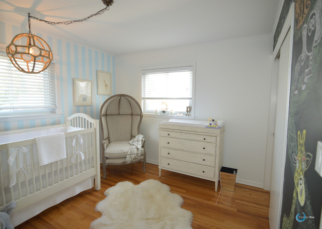 Baby Blue Nursery Rustic Nursery New York By