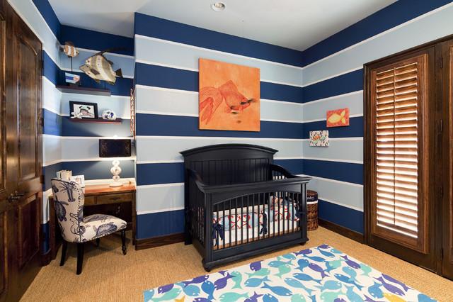 Baby Boy Nursery Traditional Nursery Austin by Bravo