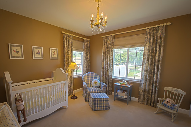 Baby boy's elegant nursery traditional-nursery