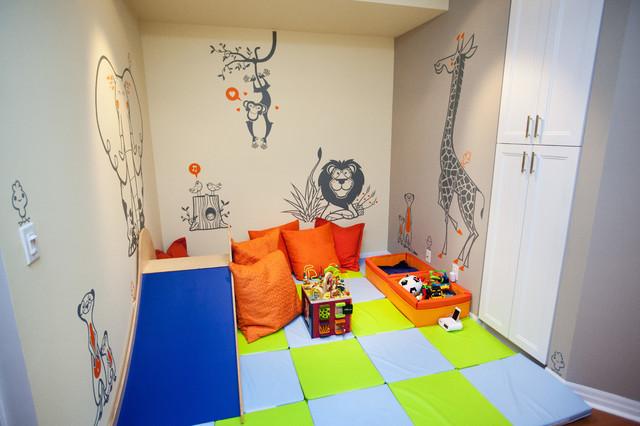 baby boy's nursery & playroom