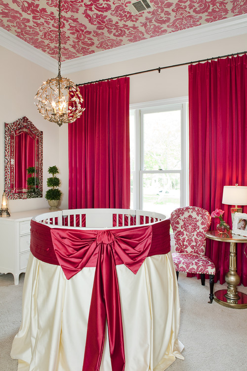 Hot Pink and White Girl's Nursery