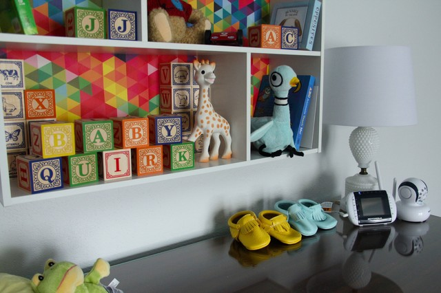 Baby Quirk Blocks And Booties Traditional Nursery