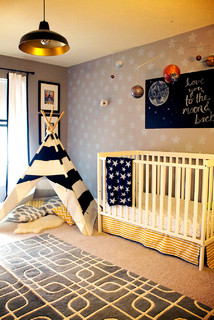 Baby room to boy s toddler room eclectic nursery - The living room lounge indianapolis ...
