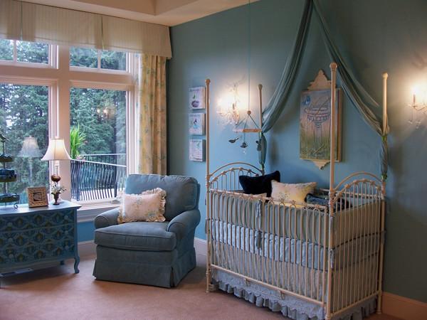 Blue Bird Themed Nursery traditional-nursery