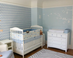 Blue nursery by Four Walls and a Roof contemporary kids