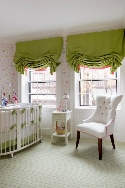 green coral white nursery