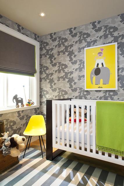 Camo + Color transitional-nursery