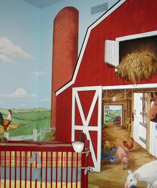Children bedroom farmhouse-nursery