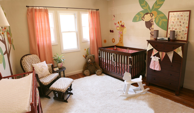contemporary kids Contemporary Baby Animal Nursery