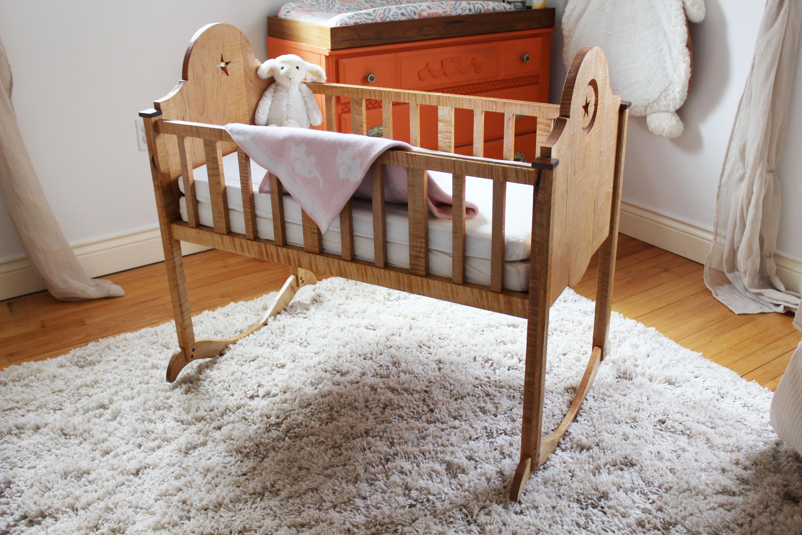 Curly Maple Cradle