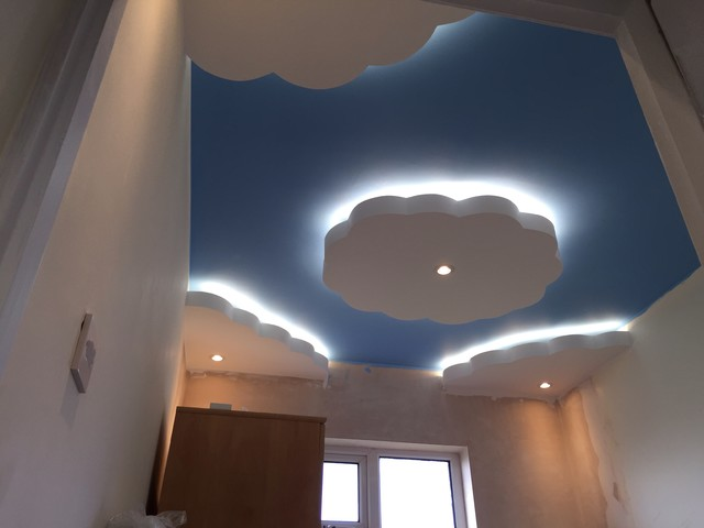 Floating Clouds Ceiling Modern Nursery Other By Ld