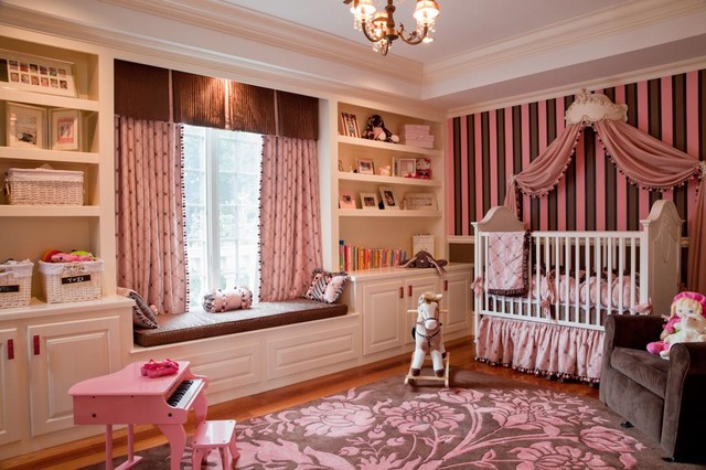 Girl Pink Princess Room Traditional Nursery Boston