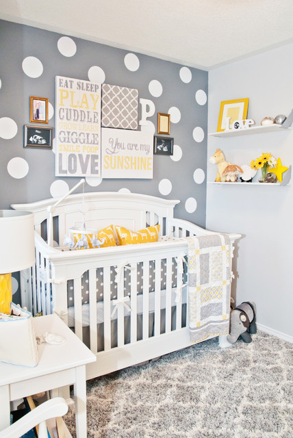 Grey Yellow White Nursery Transitional