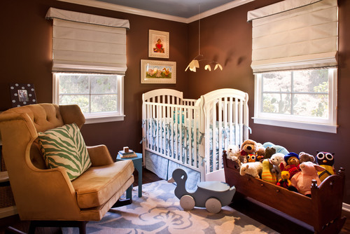 Nursery Room, Brown Room,White Chairs, Room Inspiration