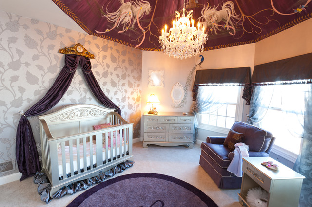 How To Decorate Purple And Gray Baby Girl Nursery