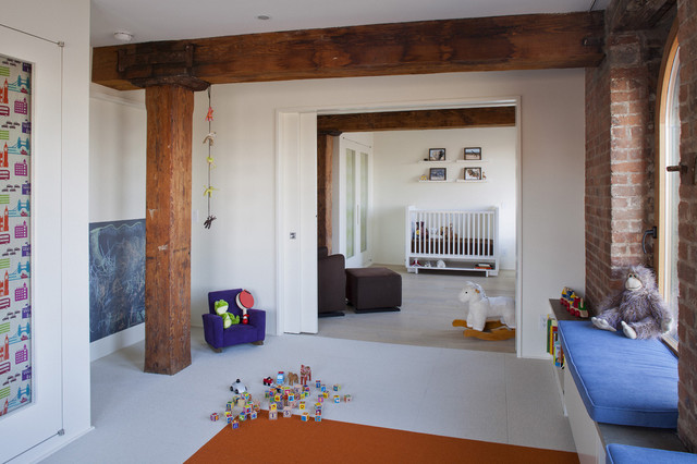 Hudson River Duplex Kids Rooms modern kids