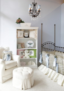 Ivory and Pale Blue Gender Neutral Baby Nursery