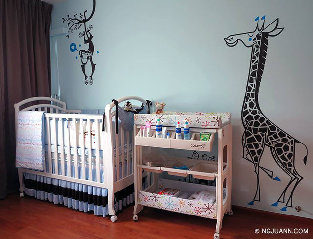 Jungle Baby Nursery With E Glue Kids Wall Decals