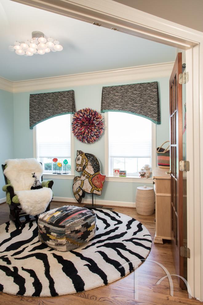 儿童房窗帘混搭风格装修图片