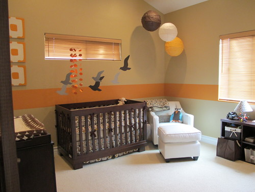 Contemporary Nursery You Can Hang Your Paper Lanterns