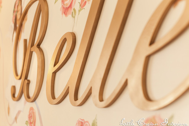 metallic gold nursery wall letters eclectic kids