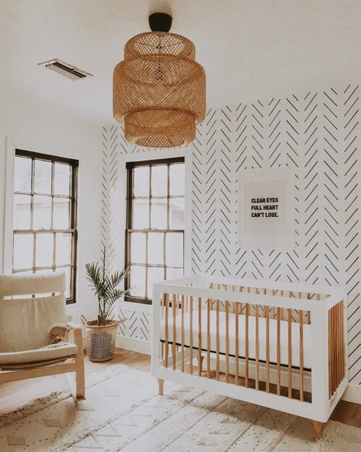 Boho Kids Rooms: Minimal Boho Nursery Interior