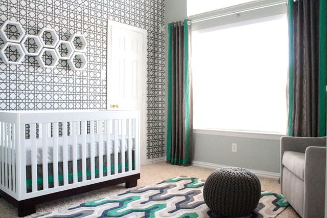 Modern Baby Boy Nursery Contemporary Dallas