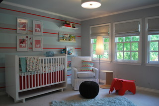 Modern Baby Boy Retreat contemporary-nursery