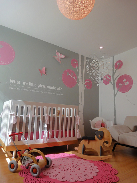 Modern Girl Nursery Modern Nursery Miami By Lullaby Baby Concierge