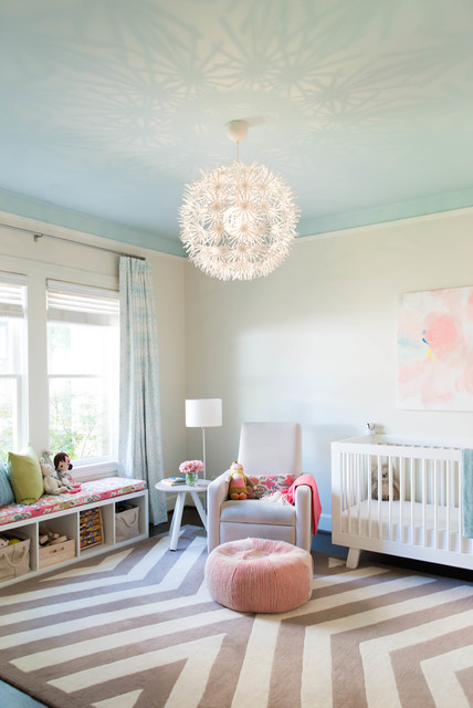 Photo Of A Transitional Nursery In Dallas