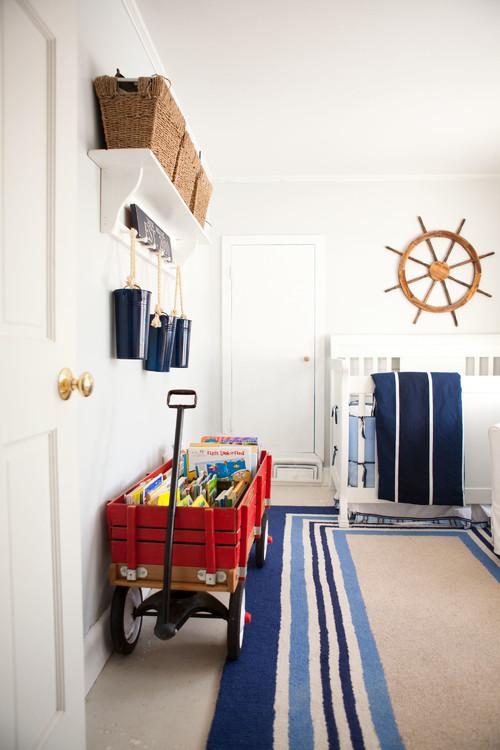 dormitorio de bebe con estilo nautico