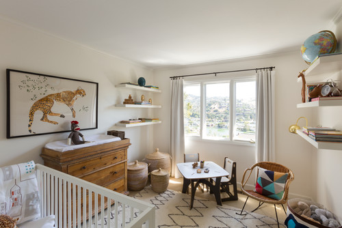 This Neutral Nursery Pairs Geometric Patterns With Animal Prints And Other Global Influences Eclectic By San Francisco