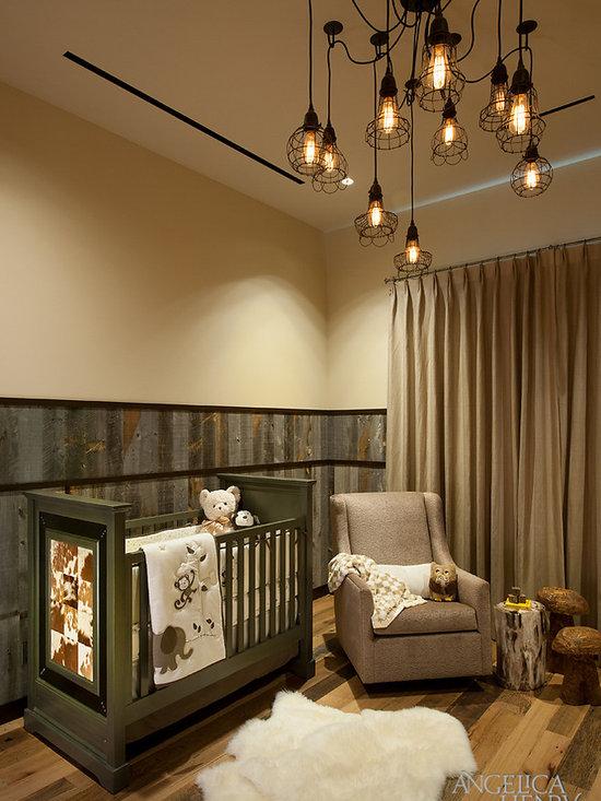Rustic nursery chair : Rustic cabin office nursery design ideas, pictures, remodel & decor
