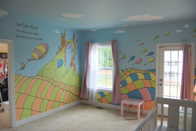 Dr seuss mural wallpaper wall murals for Dr seuss wall mural