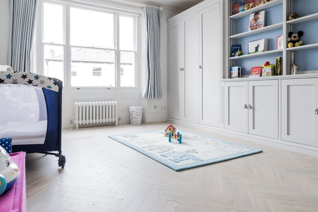 Oiled White Washed Distressed Oak Parquet Traditional London