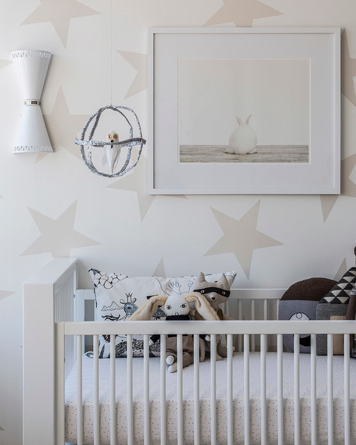 oliver 39 s neutral star nursery modern babyzimmer new. Black Bedroom Furniture Sets. Home Design Ideas