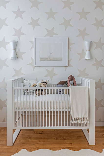 Oliver's Neutral Star Nursery contemporary-nursery