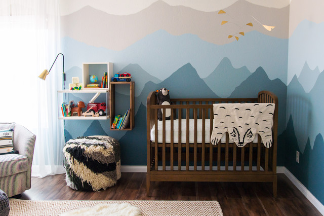 Room Of The Day An Ombre Nursery Inspired By A Cold Weather Babymoon