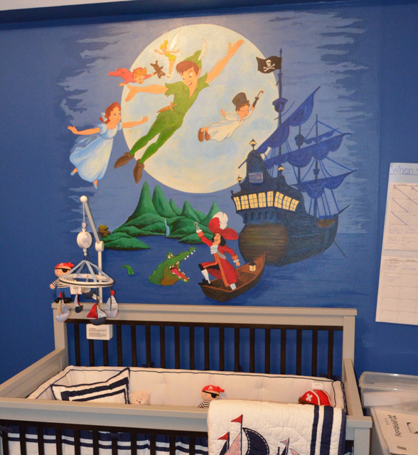 Peter Pan Mural For A Nursery Contemporary Nursery